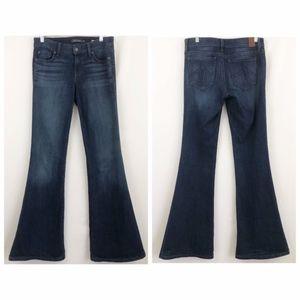 Level 99 Dhalia Flare Dark Wash Jeans